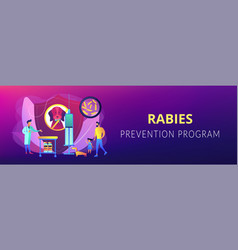 rabies and your pet concept banner header vector image