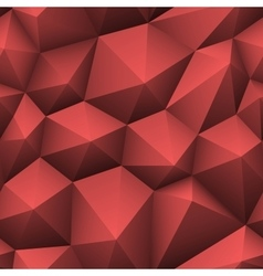 Red triangle seamless low-poly background vector image