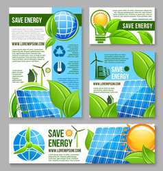 Save energy business banner template design vector