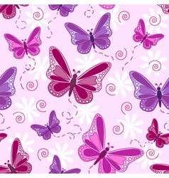 Seamless-butterfly-pattern vector