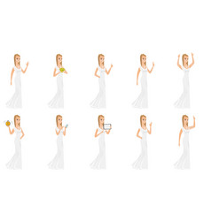 Set of with bride character vector