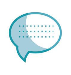 Silhouette chat bubble communication message vector