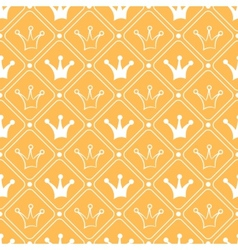 simple seamless pattern with crown orange and vector image
