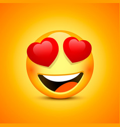 smiling face emotions love happy eyes vector image vector image