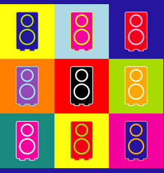 speaker sign pop-art style vector image