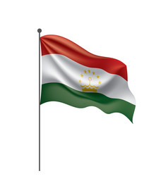 tajikistan flag on a white vector image
