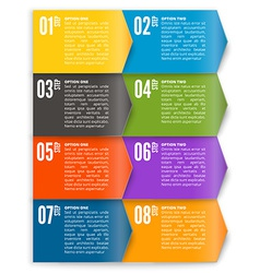 template for interface or infographic vector image