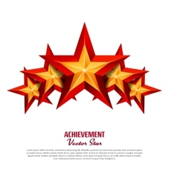 Three Achievement Stars Realistic Sign vector