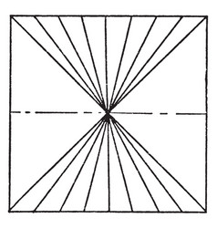 Vanishing point using lines parallel lines in vector