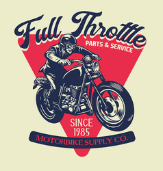Vintage custom mototrcycle badge design vector