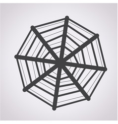 web net spiderweb icon vector image