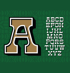 western typeface alphabet with latin vector image