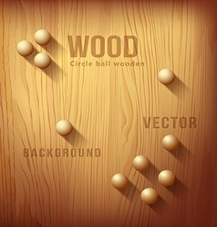 Wood texture realistic and circle designs ball vector image