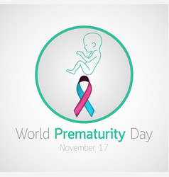 World prematurity day icon vector