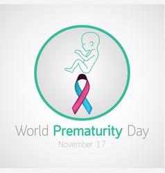 world prematurity day icon vector image