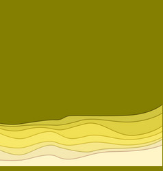 abstract background the form of waves with shadow vector image