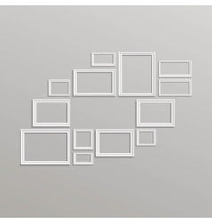 Blank Picture Frame Template Composition vector image vector image