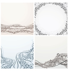 Collection of Musical Backgrounds Graphics vector image vector image