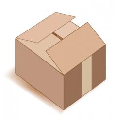 empty paper box over white vector image