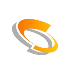 motion circle abstract logo vector image
