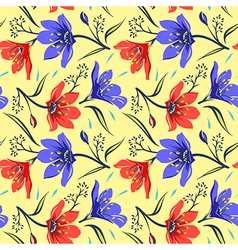 Seamless Floral pattern 2 vector image vector image