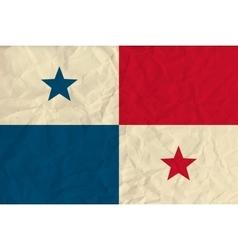 Panama paper flag vector image