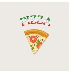 a piece of Italian pizza vector image