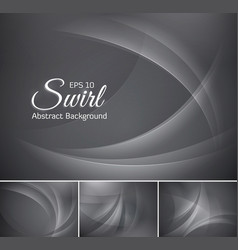 curvy abstract background grey vector image vector image