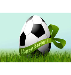 Football Easter egg vector image vector image