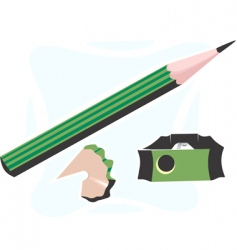 pencil and cutter vector image