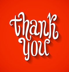 Thank you hand lettering for your design vector image