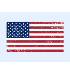 Usa flag color grunge vector