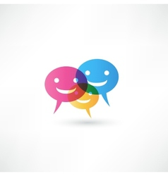 abstract smile talking bubble vector image