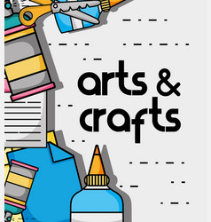 art and craft creative object design vector image vector image