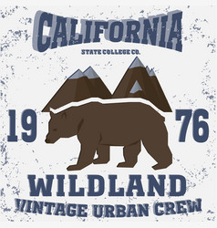 california vintage style vector image vector image