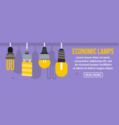 Economic lamps banner horizontal concept vector