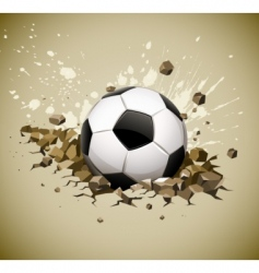 grunge football soccer ball vector image vector image