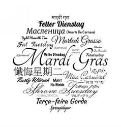 Mardi Gras word cloud vector image
