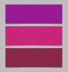 Seamless heart pattern banner background template vector