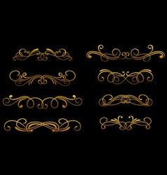 vintage golden monograms vector image
