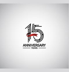 15 years anniversary logotype flat design vector