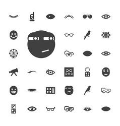 33 eye icons vector