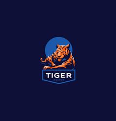 a tigress with tiger cub vector image