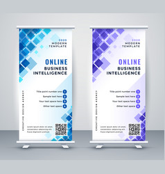 Abstract business rollup standee banner design vector