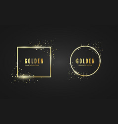 abstract golden frame with glitter and sparcle vector image