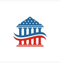 America architecture usa logo build icon vector