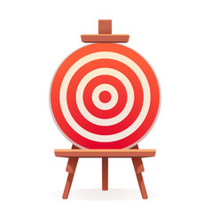 arch target icon cartoon style vector image