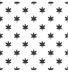 autumn leaf pattern seamless vector image
