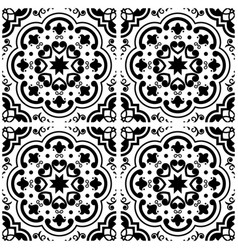 Azulejos portuguese tile floor pattern lisbon sea vector