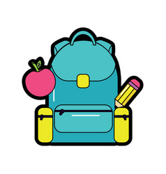 backpack with school supplies icon image vector image